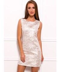 Glamorous by Glam Dámské elegantní šaty zlaté se vzorem 25522775d39
