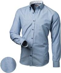 aeeabf7a2f4 Victorio Trendy modrá slim fit pánská košile