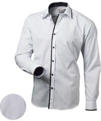 419534c3219 Victorio Moderní bílá košile v113