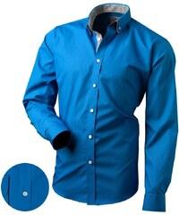 711b58a2a5d Victorio Krásna modrá pánska košeľa