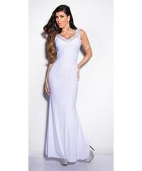 7fdd42177c2d Koucla Biele plesové šaty
