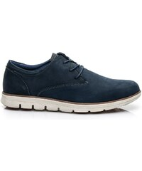 MAZ ARO Pánské kožené boty v modré barvě 0c11153404