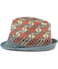 Art of Polo Trilby klobouk Spain šedý s oranžovo-béžovým vzorem 6df6cd7f74