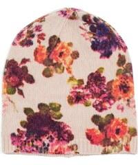 Art of Polo Čepice s květinovým potiskem béžová 5e6932278e