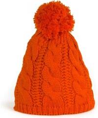 Art of Polo Zimní čepice s bambulí v oranžové barvě 8bc35658c4