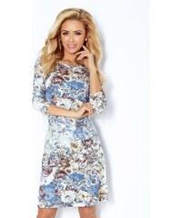 Numoco Dámské květované šaty s ¾ rukávy 275352862c
