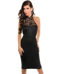 Černé večerní krátké šaty - Glami.cz c5d1315473