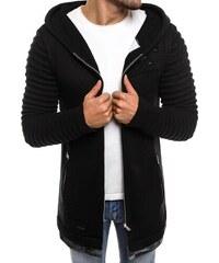 Černý pohodlný svetr s kapucí B9029S ce60777bbd