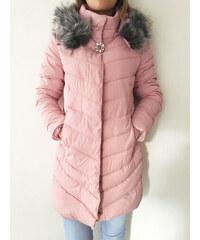 NoName Dámská bunda zimní růžová CRYSTAL M 2cc1b7fe264