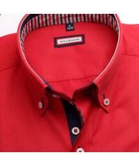 149429983123 Willsoor Pánska košele WR Slim Fit v červené farbe (výška 176-182) 4539