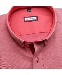 d363d54b48b1 Willsoor Pánska slim fit košeľa (výška 176-182) 6576 v červené farbe s