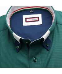 f50a9e6cb6 Bielo-zelená pánska pruhovaná slim fit košeľa Tommy Hilfiger - Glami.sk