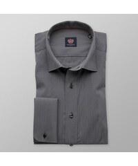 46165f959803 Willsoor Pánska slim fit košeľa London (výška 176-182) 7914 v grafitové  farbe
