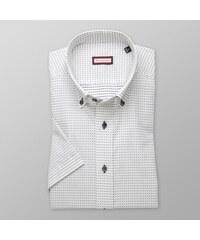9520241b435f Pánska biela bodkovaná elegantná košela s krátkym rukávom - Glami.sk