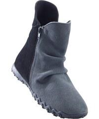 Šedé zimní kožené dámské boty - Glami.cz 3c4fc03ace