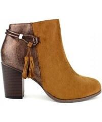 Caramel Camel Chaussures Femme Mode Cendriyon Terk Cuir Bottine UyHqgT