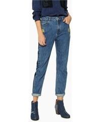 jeansy Desigual Mon Fl denim medium dark ab05c281a6