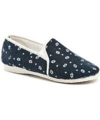 Pegres 1032 modré dámské papuče šíře H 7da2e6a9dc