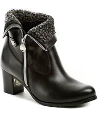 4b0210775210 Abil 801 černé dámské zimní kotníčkové boty