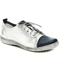 Kacper 2-5087 stříbrné dámské polobotky ecc9ca4c86
