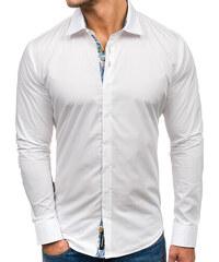 Biela pánska elegantná košeľa s dlhými rukávmi BOLF 9983 e5ae7908e94