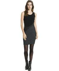415f85a3d30 Smash CAMILLA krátké pouzdrové šaty černé se vzorem AKCE1
