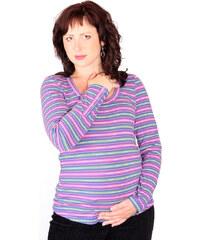 8cdd9a585ba Těhotenské tričko Rialto RUTEN-C růžovomodrý proužek 0380