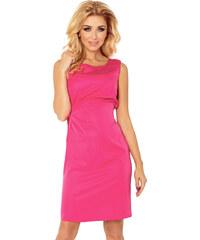 NUMOCO Ružové šaty s viazaním 126-6 587190fb89b
