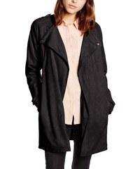 Moda 34 Femme Creme Noir Vero Suede Jacket Fake Vmvolonte Manteau Z1PdxTn