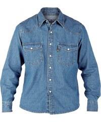 DUKE košile pánská KS1023 Western Style Denim Shirt riflová nadměrná  velikost f83e65f60f
