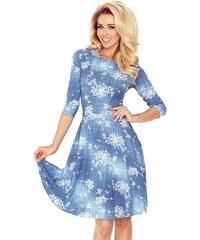 NUMOCO šaty dámské 49-15 3 4 rukáv květy 12648b95143