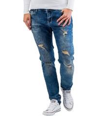 Just Rhyse kalhoty dámské Koza Boyfriend Jeans Blue cb6d84d5e5