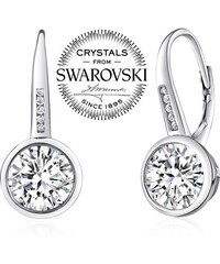 33fe4a56f Swarovski Crystal, bílé náušnice | 20 kousků na jednom místě - Glami.cz