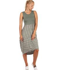 TopMode Letní plážové šaty s balonovou sukní (khaki 3eaf0a6be1