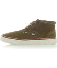 Pánské hnědo-zelené kotníkové boty XTI 47059 d94f01eb3c