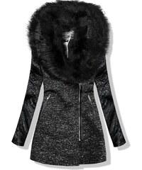Čierne Dámske kabáty so zapínaním na zips Zlacnené nad 20% - Glami.sk 620028134e5