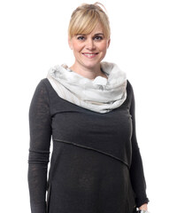 Silk Worm Moderní šátek s černo šedým vzorem - tunel 09f4061b50