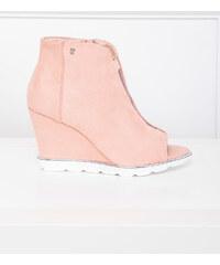 Ružové Dámske topánky na podpätku z obchodu Londonclub.sk - Glami.sk f49ea93775