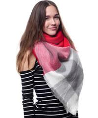Silk Worm Velký vlněný šátek červený - 16069 68357c677e