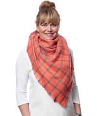 Silk Worm Velký vlněný šátek oranžový - 16072 f61a6d0530