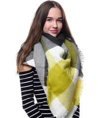 Silk Worm Velký vlněný šátek žlutý - 16075 6d2d4c046d