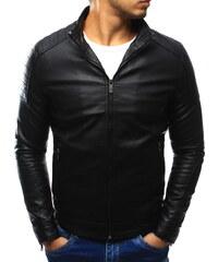 DSTREET AKCE - Pánská koženková černá bunda VEL. XL (tx1877) 8ca12f96e8