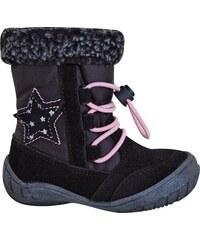 b49dc0e83c51 Protetika Dívčí zimní boty Siera - černé