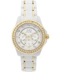 Bílé dámské chronografy náramkové hodinky JVD steel W29.2 - vodotěsné 10ATM 9fbfb3640a