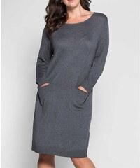 Pletené šaty Sheego také pro plnoštíhlé (vel.46 skladem) 46 šedá SKLADEM 950123063a9