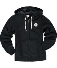 Dámská černá mikina Converse Core Full Zip Hoodie 13ca5be1574