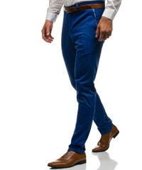 059e1eec8eb3 Modré pánske spoločenské nohavice BOLF 4326