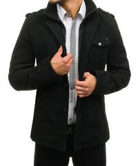 015d5d1f4abe Čierny pánsky plášť BOLF 8853