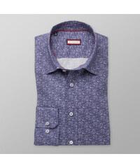 Willsoor Pánská slim fit košile (výška 176-182) 8340 v modré barvě se cc4973a819