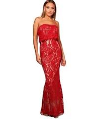 BOOHOO Boutique Čipkované spoločenské šaty b4553758b51
